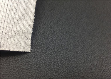 Tkanina skórzana z czarnego PVC 1.0 Mm Microporous For Automotive Interrier